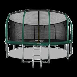 Батут ARLAND премиум 16FT с внутренней страховочной сеткой и лестницей (Dark green)
