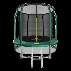 Батут ARLAND премиум 8FT с внутренней страховочной сеткой и лестницей (Dark green)
