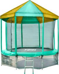 Батут OPTIFIT Like 10 FT (Green) с зелено-желтой крышей