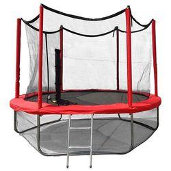 Батут с защитной сеткой и лестницей Optima Fitness Jumper 8ft (244м)