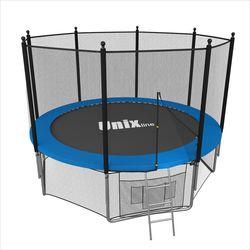 Батут с сеткой и лестницей Unix 8 ft (244м). Внешняя сетка. BLUE.