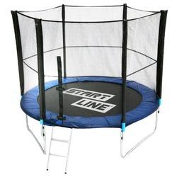 Батут Каркасный Start Line Fitness 8FT с внешней сеткой и лестницей